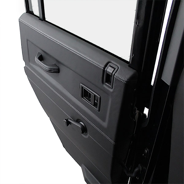 Premium leather door cards for defender 90 deranged for 05 mustang door panel leather